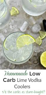 homemade low carb lime vodka coolers