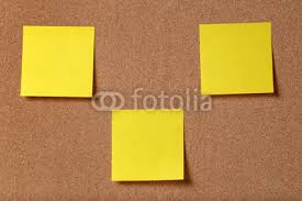 sticky notes on cork board wall mural