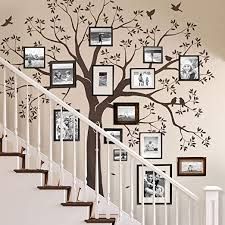 Amazon Com Simple Shapes Staircase Family Tree Wall Decal Reverse Cut 92w X 88h Inch Small Size Chestnut Brown Home Kitchen