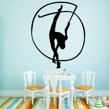 Removable Wall Stickers Sports Gymnastics Lady Wall Stickers Wallpaper For Kids Room Nature Decor Vinyl Wall Decals Wall Stickers Aliexpress