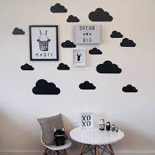 Black Cloud Design Wall Decal Stickers Perfect For A Contemporary Monochrome Decor Scheme Boys Wall Decals Wall Stickers Boys Room Decor