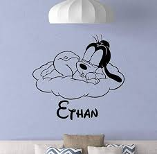 Amazon Com Personalized Goofy Wall Decal Poster Custom Name Sign Boy Quote Walt Disney Vinyl Sticker Gift Baby Room Decor Boy Bedroom Wall Made In Usa Fast Delivery Home Kitchen