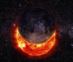 sun and purple planet e universe