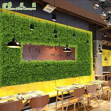 china artificial grass wall for mall