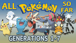 All Pokémon All Generations 1-7 - YouTube