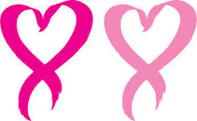 Set Of 2 Pink Heart Breast Cancer Ribbon Window Sticker Decal 3 Diff Sizes Ebay