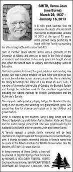 Verna Smith | Obituary | Cochrane Times