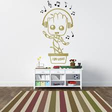 Baby Groot Music Note Headphones Kids Nursery Vinyl Wall Decal Sticker The Decal Guru