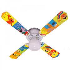 Ceiling Fan Designers 42fan Kids Ssebb Sesame Street Elmo Big Bird Ceiling Fan 42 In Walmart Com Walmart Com