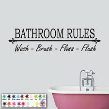 Bathroom Rules Wall Sticker Wall Art Decal Vinyl Toilet Decor Home Mural Ebay
