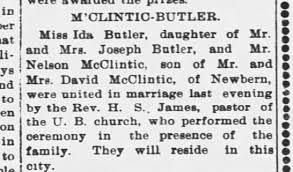 Ida Butler / Nelson McClintic Marriage - Newspapers.com