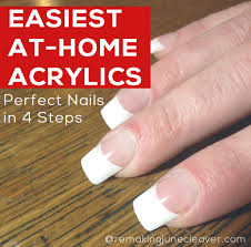 easiest diy acrylic nails that you can