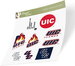 Amazon Com University Of Illinois At Chicago Uic Flames Ncaa Sticker Vinyl Decal Laptop Water Bottle Car Scrapbook Type 2 Sheet Arts Crafts Sewing