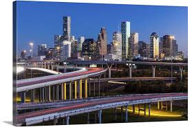 City Skyline And Interstate Houston Texas Wall Art Canvas Prints Framed Prints Wall Peels Great Big Canvas