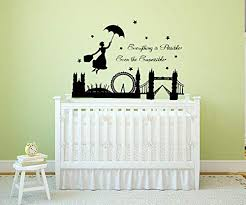 Amazon Com Mary Poppins Disney Wall Decal Saying Motivational Quotes Children Wall Decals Bedroom Kids Room Nursery Playroom Wall Art 30mp Baby