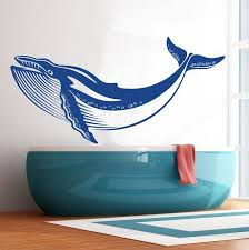 Whale Wall Decal Marine Life Decor Sticker Decals Market