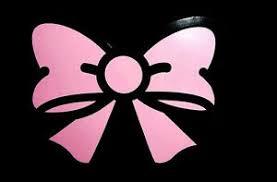 Pink Bow Tie Decor Sticker Auto Car Bumper Window Vinyl Decal Girlie Fun Gift Ebay