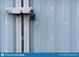Rusty Old Padlock On Metal Gate Closeup Stock Photo Image Of Fence Gate 156124478