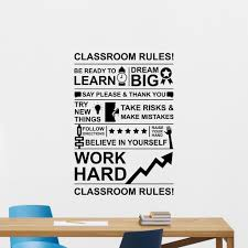 Work Hard Dream Big Poster Stickers Classroom Rules Wall Decal Education School Quote Wall Tattoo Sticker Wall Decoration Z994 Wall Stickers Aliexpress