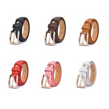 square buckle boys pu leather belt