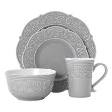 Abby Gray 16 Piece Dinnerware Set, Service for 4 – Pfaltzgraff