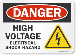 Smartsign S 6196 Al 14 Danger High Voltage Electrical Shock Hazard Sign 10 X 14 Aluminum Black Red On White Amazon Com Garden Outdoor