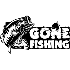 Gone Fishing Decal Sticker Gone Fishing Decal Thriftysigns