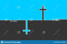 God Vs Satan Stock Vector Illustration Of Life Believe 184415676