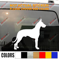 Great Dane Dog Car Decal Sticker Vinyl Truck Boat Pick Color And Size Car Decal Sticker Sticker Vinyldog Car Decal Aliexpress