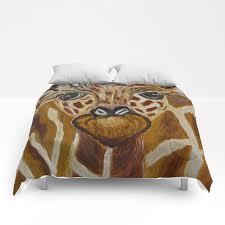 Baby Giraffe Art Kids Room Bathroom Art Zoo Animals Nursery Room Comforters By Artbykatsy Society6