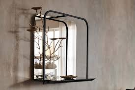 square wall shelf vintage mirror with