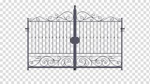 Gate Fence Wrought Iron Gate Transparent Background Png Clipart Hiclipart