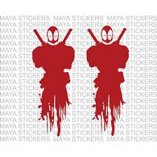 Deadpool Stickers Vinyl Decals For Cars Bikes Laptop Helmet And Mobiles