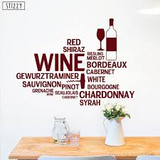 Stizzy Wall Decal Wine Alcohol Bar Bottle Wall Stickers Quote Saying Kitchen Wallpaper Vinyl Removable Home Decor Restaurantb893 Wall Stickers Aliexpress