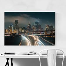 Shop Noir Gallery Houston Texas Cityscape Skyline Metal Wall Art Print Overstock 28159765