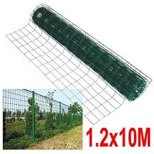 10m X 1 2m Green Pvc Coated Steel Mesh Fencing Wire Garden Galvanised Fence Border Wholesale Scout