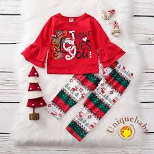 Bộ áo thun dài tay + quần dài xinh xắn thời trang cho bé gái chủ đề giáng  sinh, giá chỉ 167,708đ! Mua ngay kẻo hết!