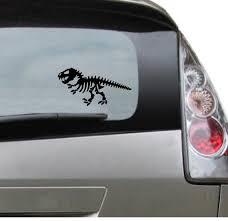 Funny Popular Dinosaur Car Decal T Rex Skeleton Trex Etsy