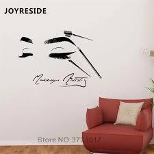 Beauty Salon Baber Wall Decals Beauty Face Art Design Sticker Home Room Decor Wall Decal Babershop Women Makeup Vinyl Decal W079 Wall Stickers Aliexpress