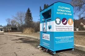 clothing donation bins closed during