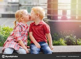 little boy and kissing each
