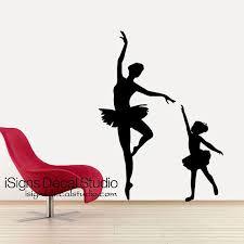 Ballerina Dance Wall Decal Ballet Decal Dance Wall Decal Etsy In 2020 Dance Wall Decal Ballet Silhouette Dance Studio Decor