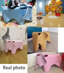 Elephant Shape Children Chair In Room Welcomed By The Children Animal Kids Chair Waterproof Pp Plastic Chairs Bearing 150kg Nana S Corner Beauty Cosmetic