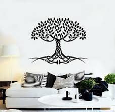 Vinyl Wall Decal Celtic Tree Of Life Roots Leaves Symbol Myth Stickers G1268 Ebay