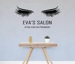 Beauty Salon Decal Lashes Wall Stickers Eyelashes Vinyl Etsy