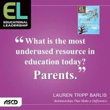 parental involvement a neglected resource ascd inservice
