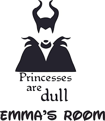 Amazon Com Maleficent Dull Princess Cartoon Customized Wall Decal Custom Vinyl Wall Art Personalized Name Baby Girls Boys Kids Bedroom Wall Decal Room Decor Wall Stickers Decoration Size 20x18 Inch