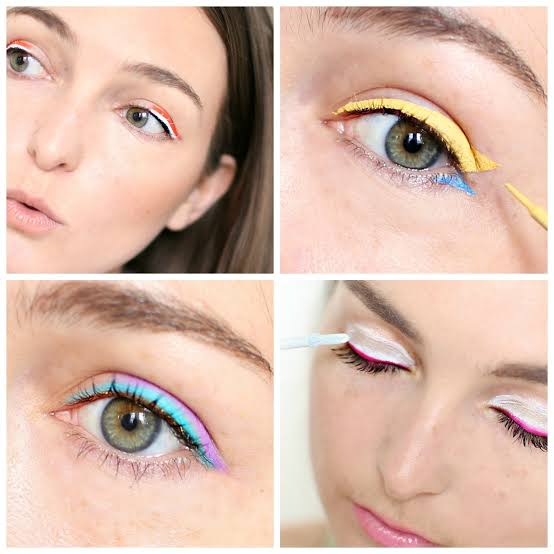 Image result for eyeliner trick: Try colored pencils.