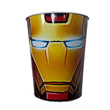 Iron Man Head Graphic Waste Basket Or Trash Can Kids Bedroom Bathroom Kzdexill 76