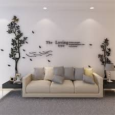 Modern Simple Tree Acrylic 3d Wall Sticker Decals Living Room Bedroom Tv Background Decor Art Wall Decals Mural Home Decor Wall Stickers Aliexpress